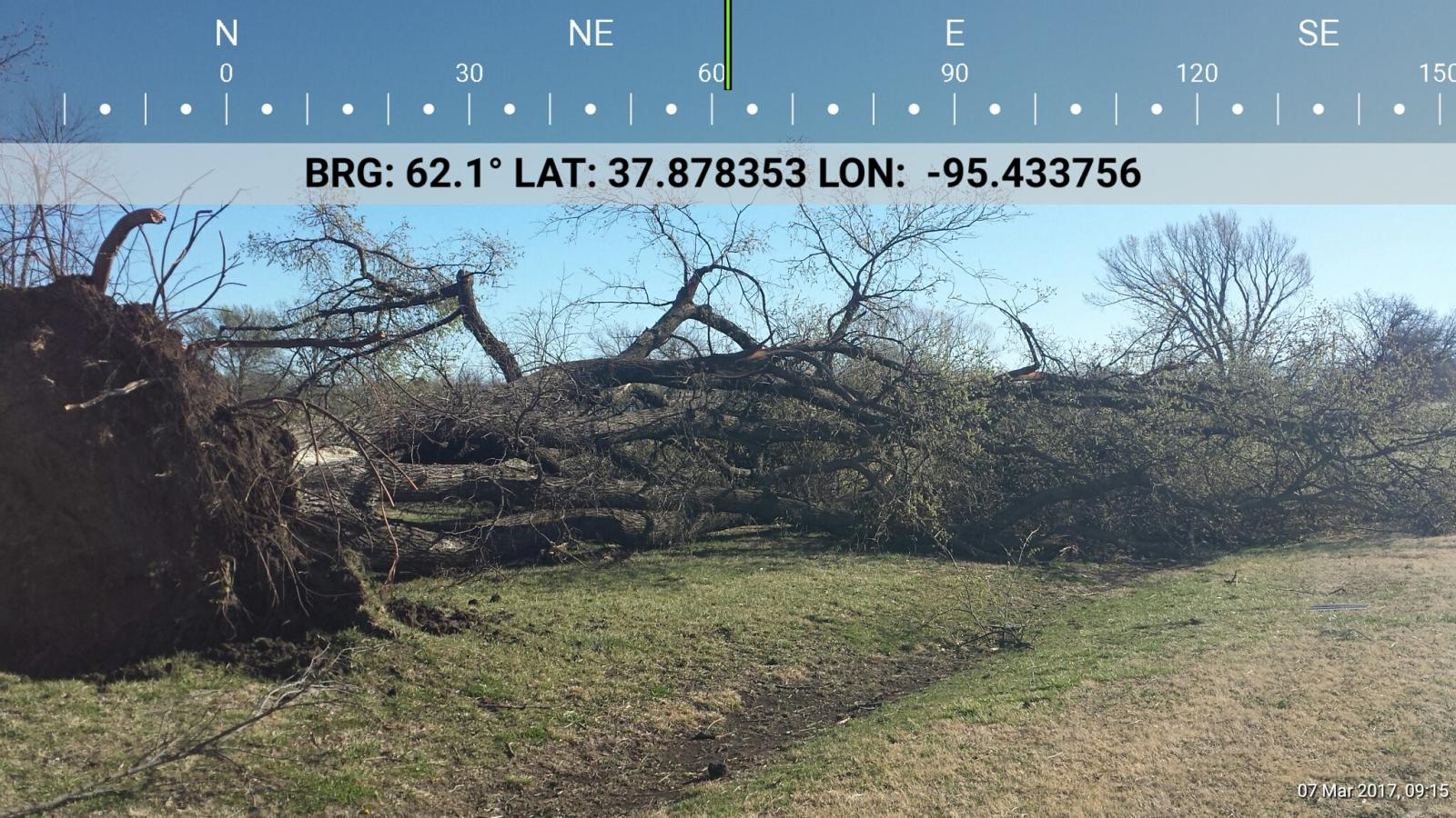 Kansas allen county iola - Wind Damage South Of Iola Courtesy Allen County Emergency Management