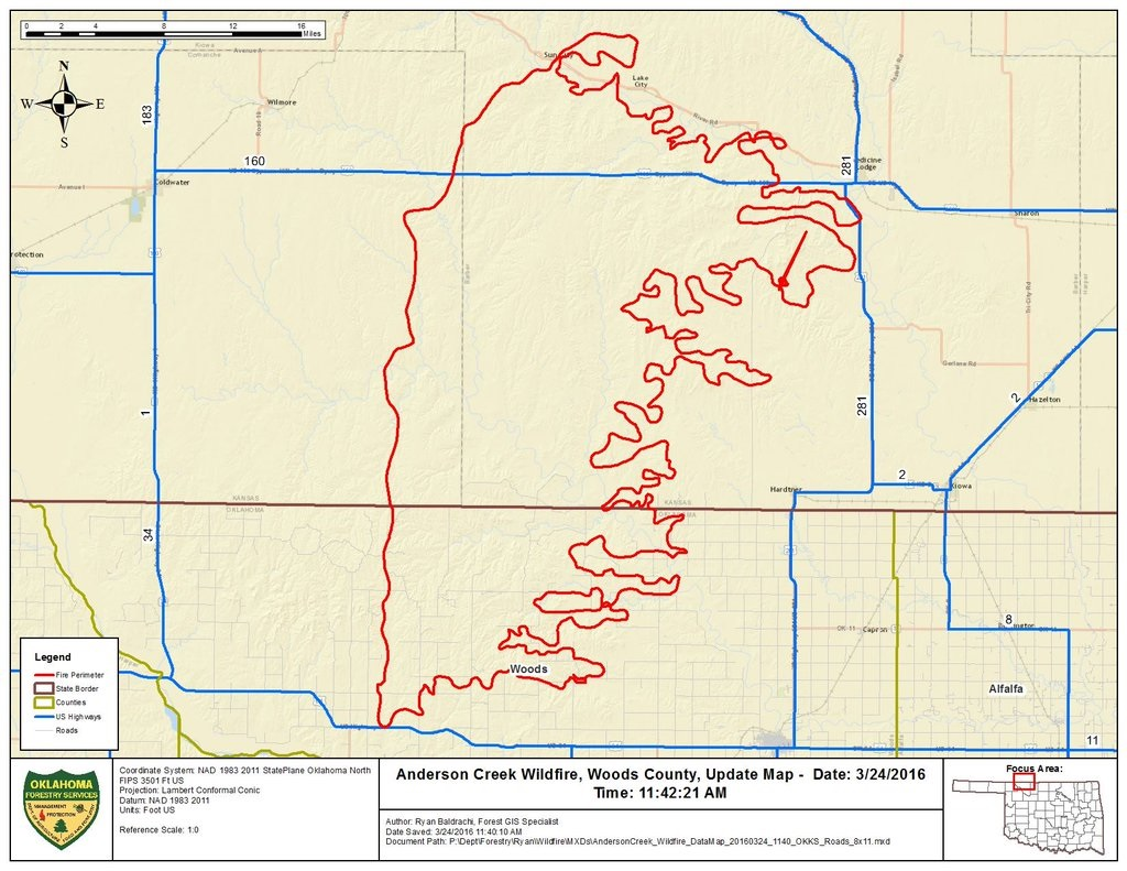 Large Wildfire Map.March 22nd 23rd Large Grass Fires