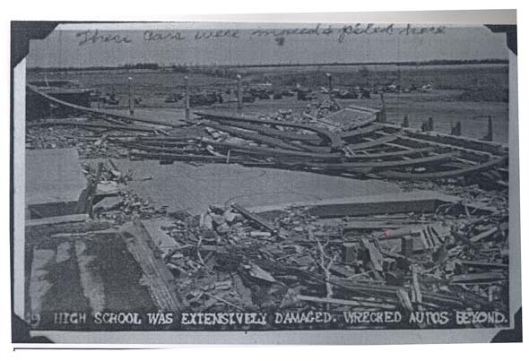 Damage to the High School