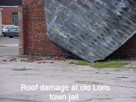 Roof damage at old Loris town jail