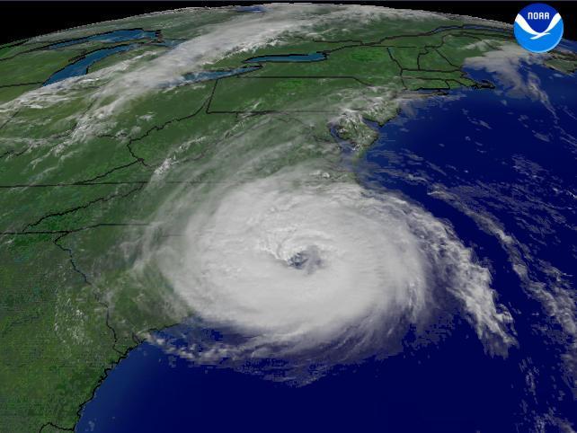 Hurricane Ophelia on September 14, 2005