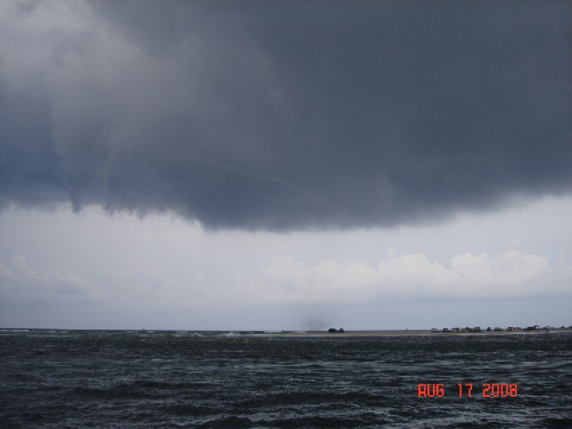 A picture of a waterspout