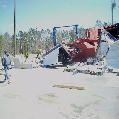 A picture of the damage of the March 15, 2008 severe weather outbreak