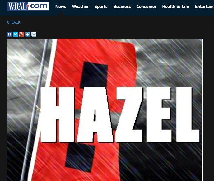 WRAL Hurricane Hazel Movie