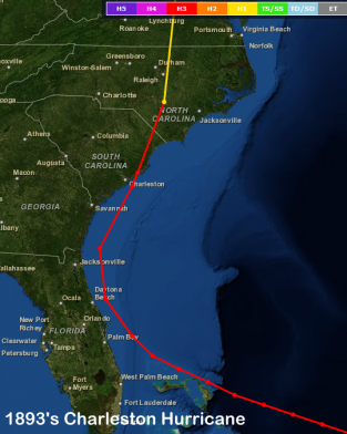 Top Storms In Wilmington North Carolinas History - Georgia map hurricane