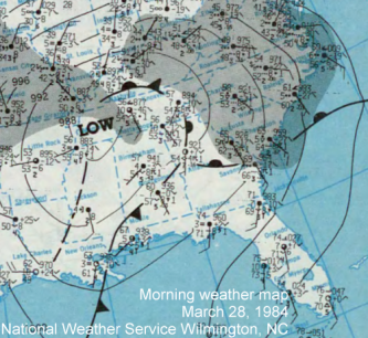 Morning surface map March 28, 1984