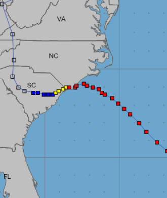 f9b8c639c Track of Hurricane Florence in September 2018