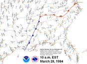 10 a.m. Surface Map