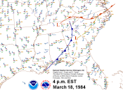 4 p.m. Surface Map