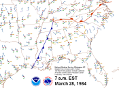 7 a.m. Surface Map