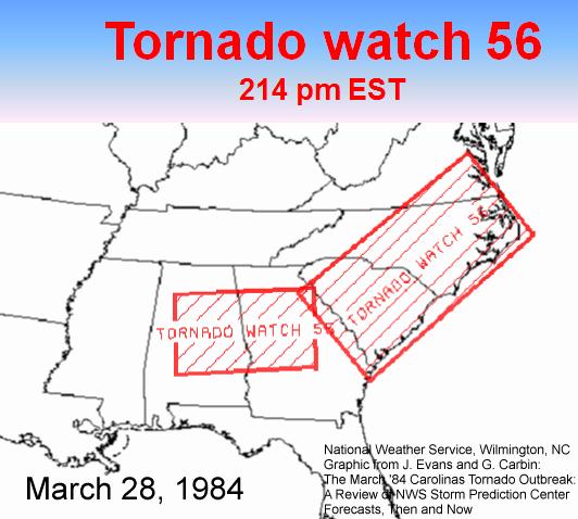Carolinas Tornado Outbreak: March 28, 1984