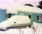 Snow in Burgaw, North Carolina from the Christmas 1989 Snowstorm.  Photo by Rick Beacham.