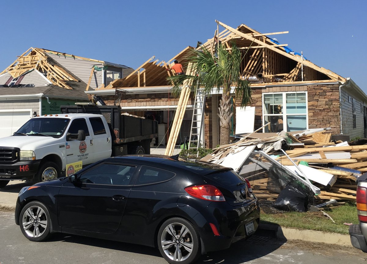 Extensive damage occurred to several dozen homes in The Farms at Brunswick subdivision in Carolina Shores.  Based on observed damage, winds were estimated to have reached 120 mph