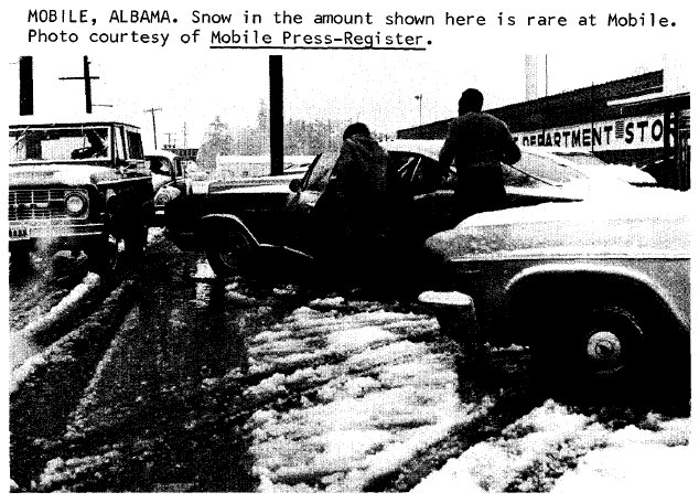The Great Southeastern Snowstorm February 9 11 1973