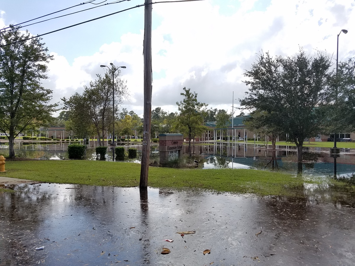 Conway Elementary School. (Photo credit: Jonathan Lamb/NWS)