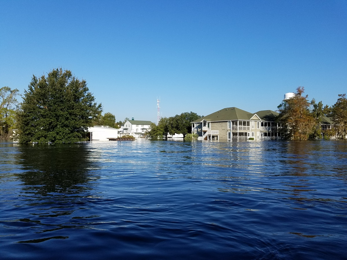 Flooding near the Conway City Marina. (Photo credit: Jonathan Lamb/NWS)
