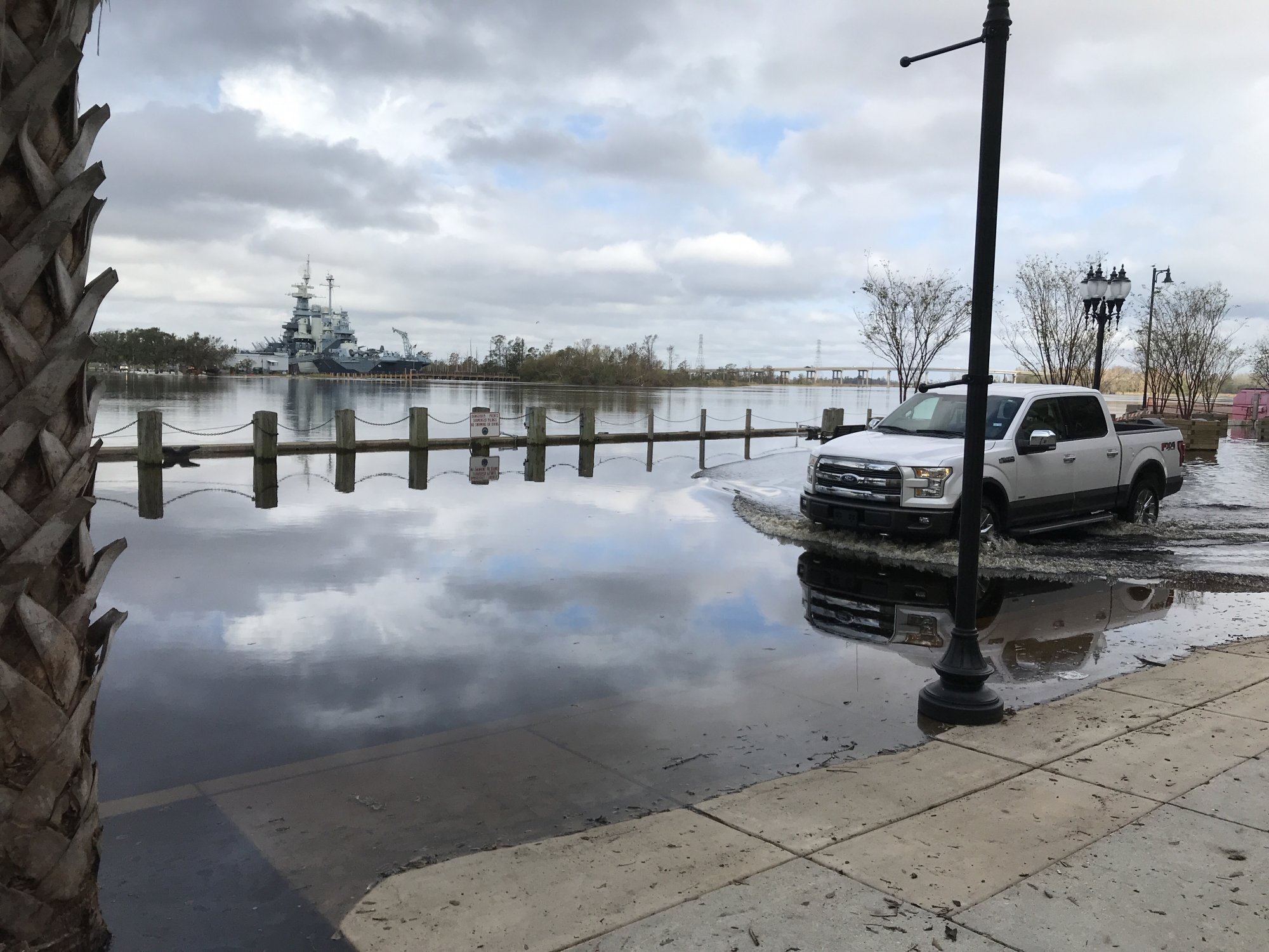 Significant coastal flooding occurred in downtown Wilmington for many days after Hurricane Florence. (Photo credit: Rick Neuherz/NWS)