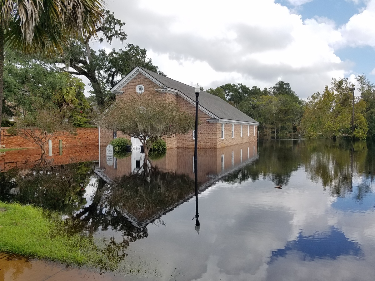 Flooding at Kingston Presbyterian Church in Conway (Photo credit: Jonathan Lamb/NWS)