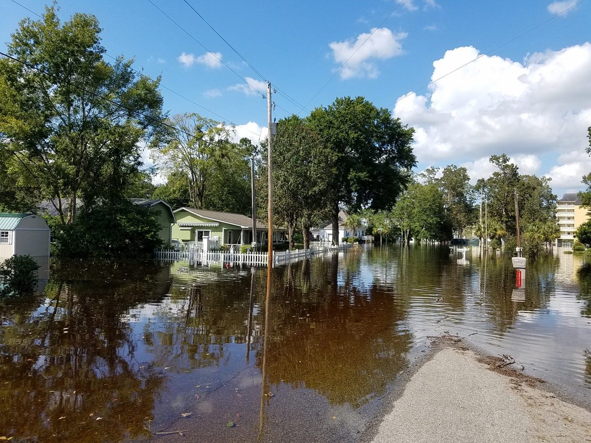 Flooding near the Intracoastal Waterway in Socastee, SC. (Photo credit: Jonathan Lamb/NWS)