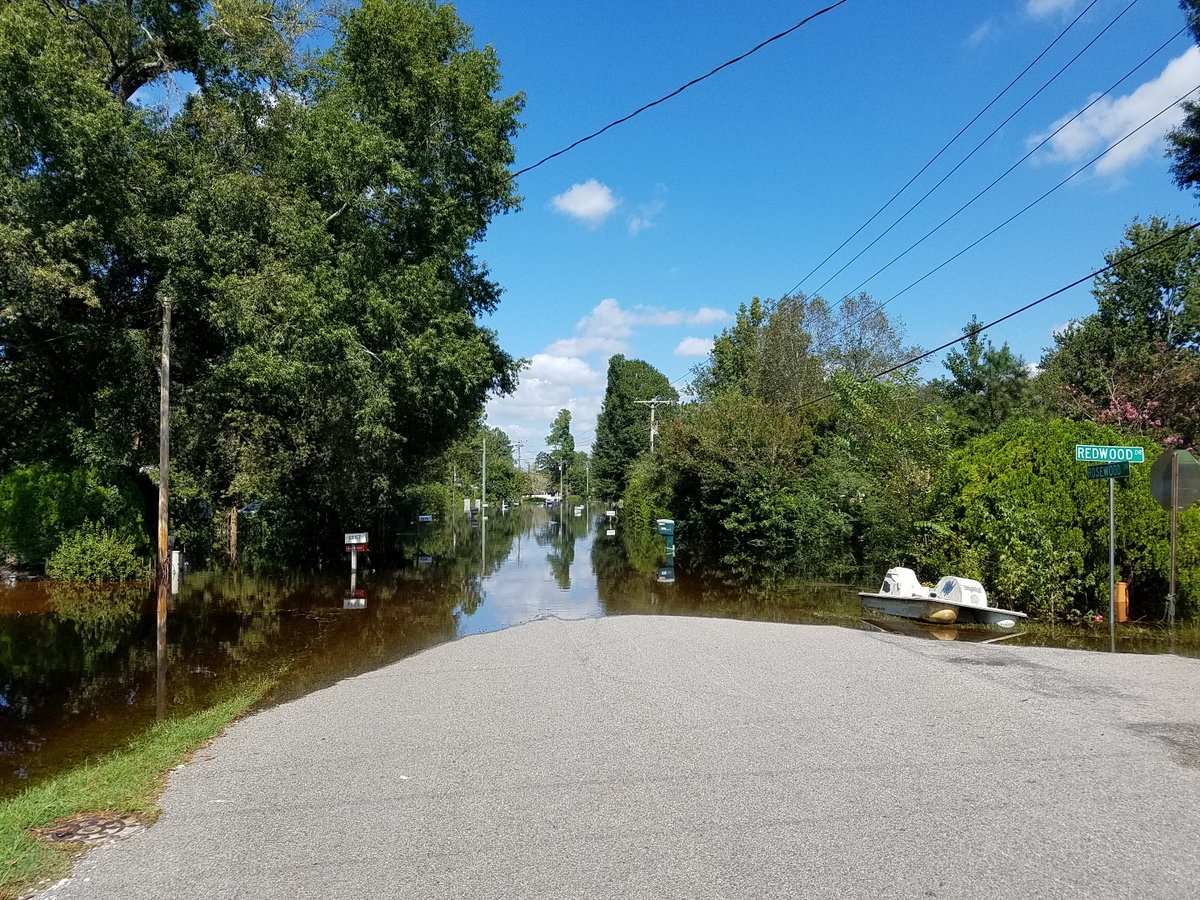 Rosewood Drive in Socastee. (Photo credit: Jonathan Lamb/NWS)