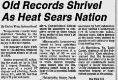Old Records Shrivel As Heat Sears Nation