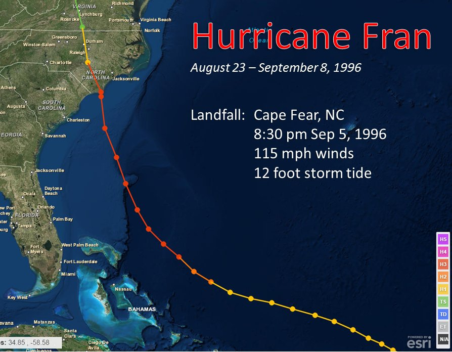 Hurricane Fran September 5 1996