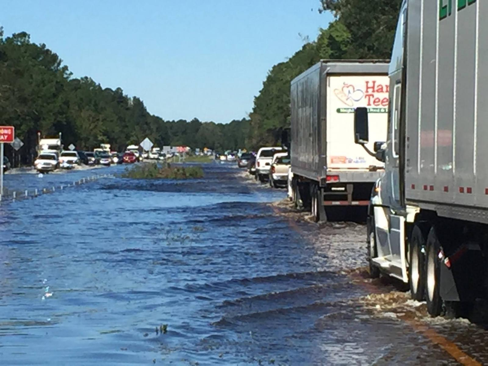 Significant flooding even occurred along U.S. Highway 74 near the town of Boardman, NC  close to the Columbus-Robeson county line.