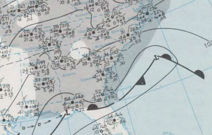 Surface weather map for January 8, 1973