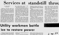 "Wilmington Star-News from January 10, 1973: ""Services at Standstill Throughout City"""