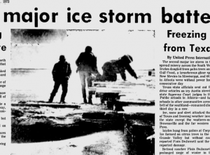 "Wilmington Star-News from January 11, 1973: ""Second Major Ice Storm Batters South"""