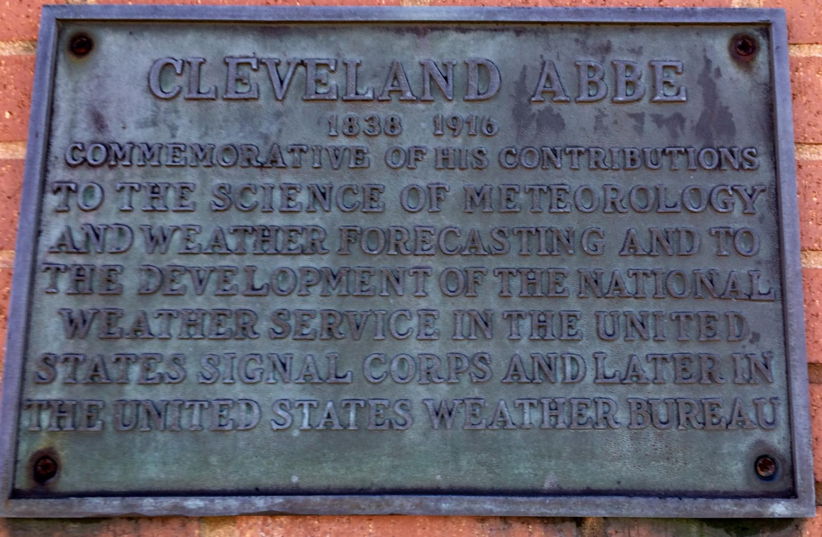 Abbe Plaque at NWS Wilmington