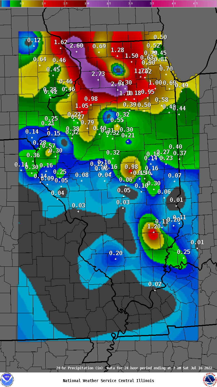 Hampshire Illinois Map.24 Hour Precipitation For Illinois