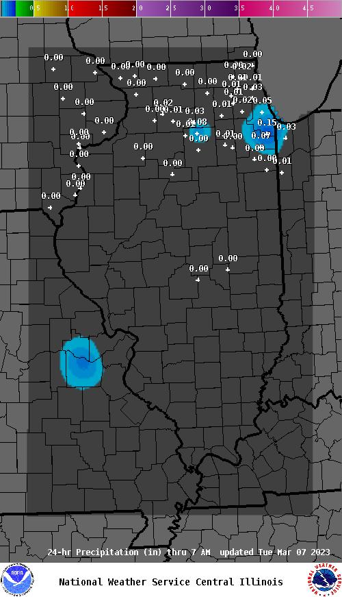 Antioch Il Zip Code Map.24 Hour Precipitation For Illinois