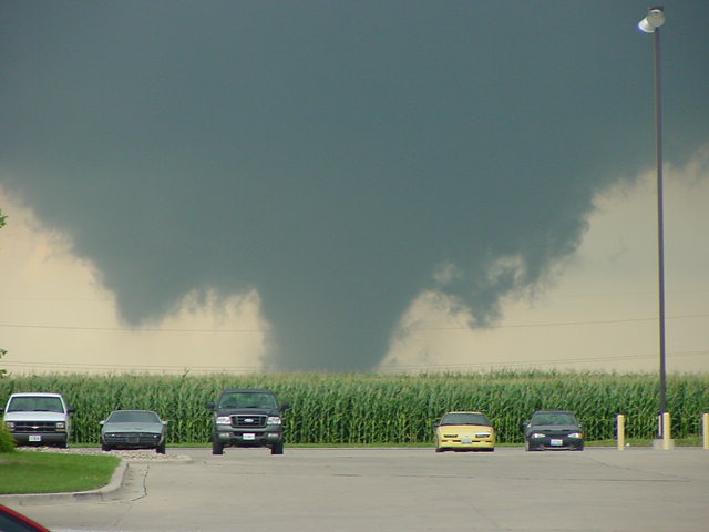 Looking north from Eureka, around the time the tornado hit the plant. Photo by Sam Bertschi