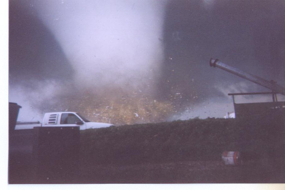 Tornado strikes the Parsons plant. Photo by Scott Smith