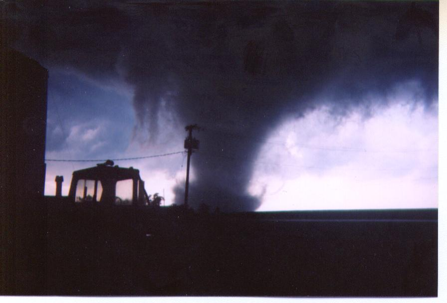 Tornado approaching the Parsons Manufacturing Plant
