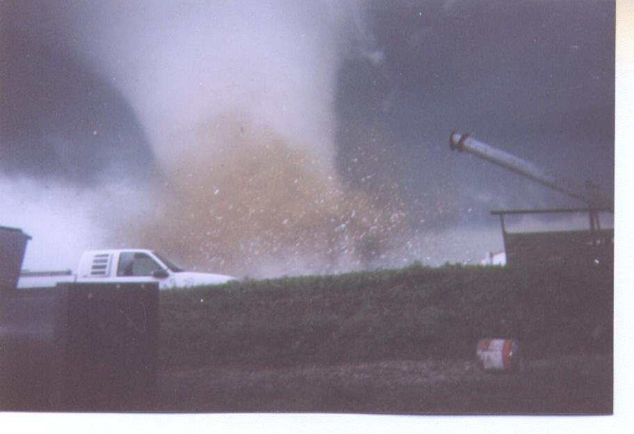 Tornado striking the Parsons plant. Photo by Scott Smith