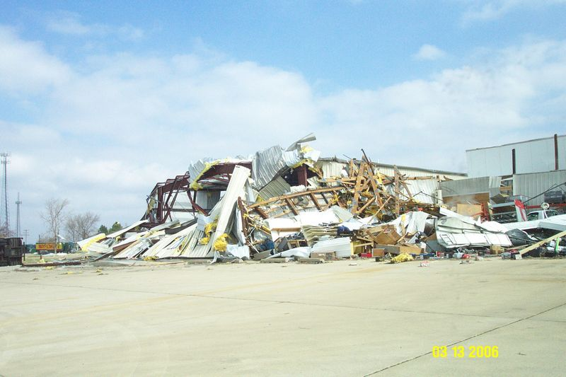 A warehouse collapsed at the Asian Food Market along Cockrell Lane