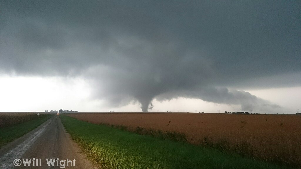 Tornado near starting point south of Sidney. Photo by Will Wight
