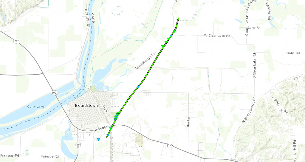 Beardstown tornado track map