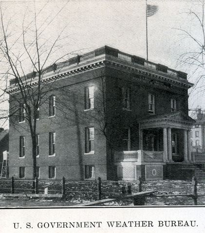 Weather Bureau building in Springfield, fall 1906.  Photo courtesy of the Sangamon Valley Collection, Lincoln Library.