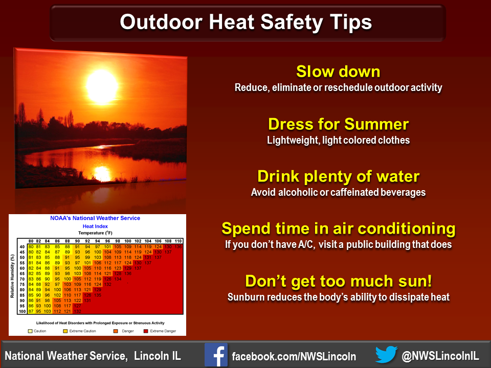 Excessive Heat Warning In Effect Through The Weekend - National weather service lincoln illinois