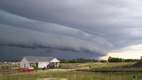 Shelf cloud in Hampshire, 7/1/2008. Photo by Brittney Misialek