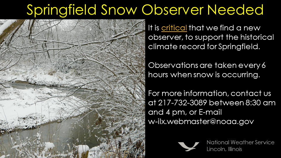 Snow Observer Needed In Springfield - National weather service lincoln illinois