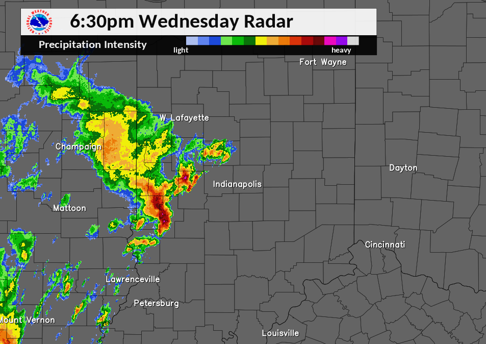 Radar Image at 6:30 PM