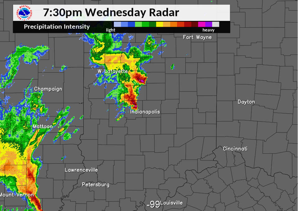 Radar Image at 7:30 PM