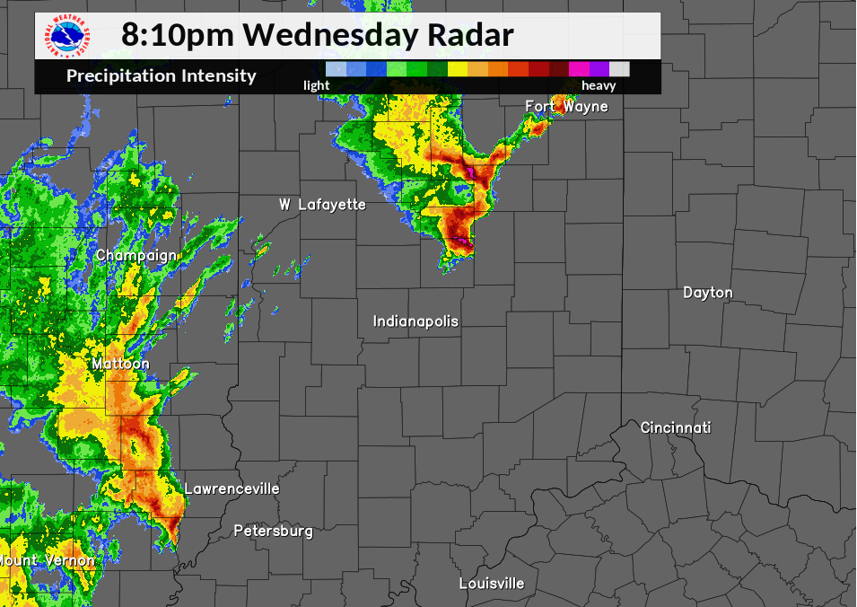 Radar Image at 8:10 PM