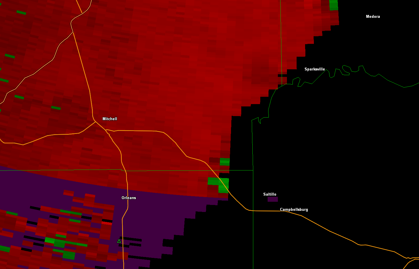 Velocity Image of Lawrence Co Tornado
