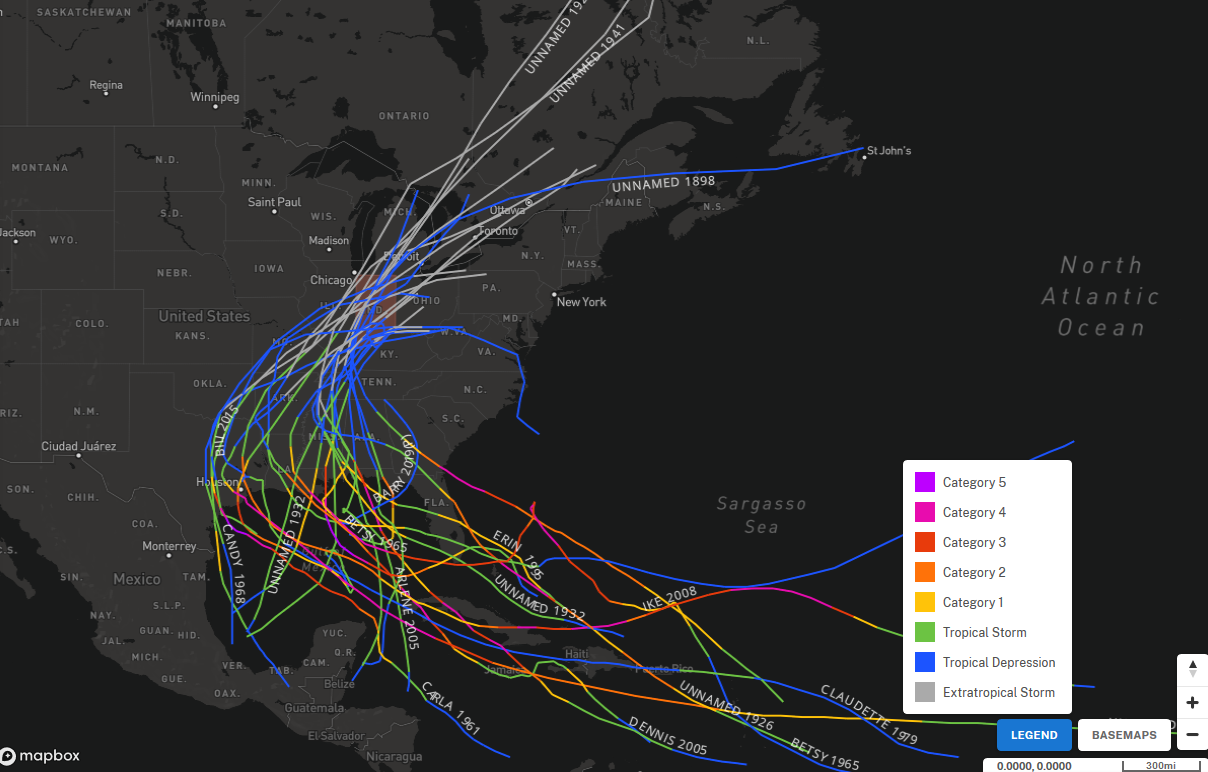 History Of Tropical Cyclone Remnants