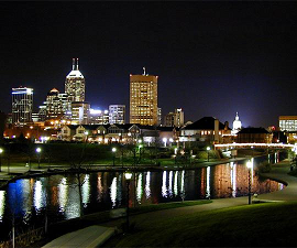 Indy Skyline at Night